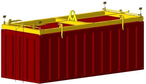 траверса для контейнера полуавтоматическая