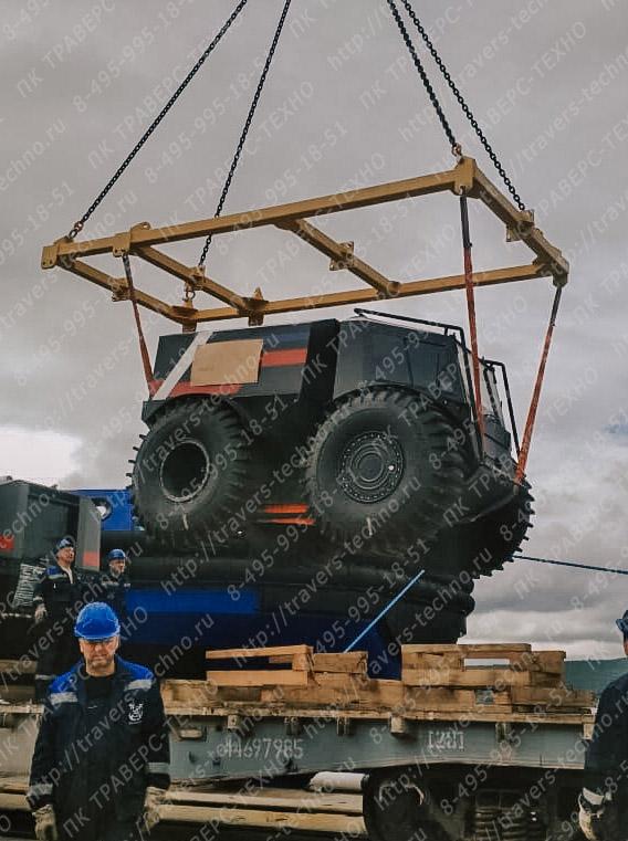траверса для подъема грузового автомобиля